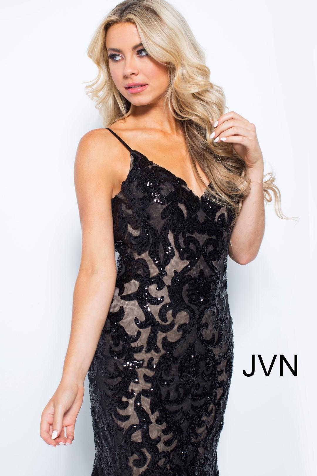 Jovani 53214 Jovani Mermaid Gown Sequin Evening Dress