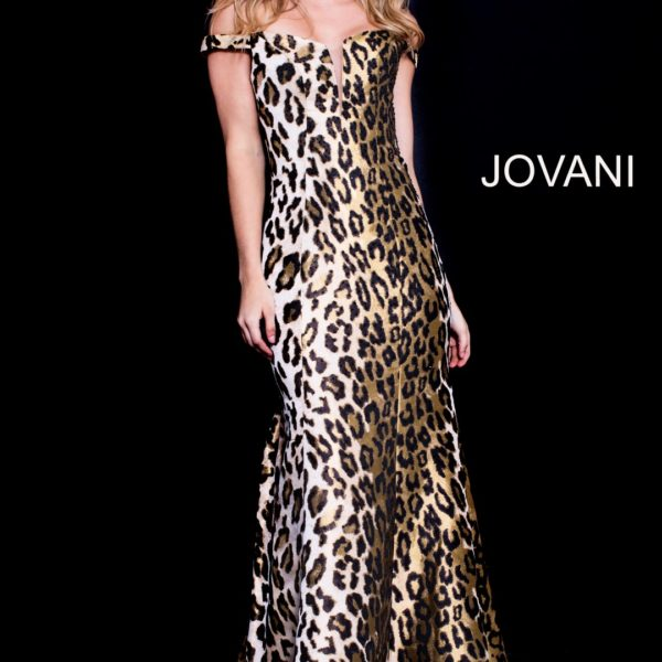 JOVANI 57688 | JOVANI LEOPARD PRINT | PRINT EVENING DRESS