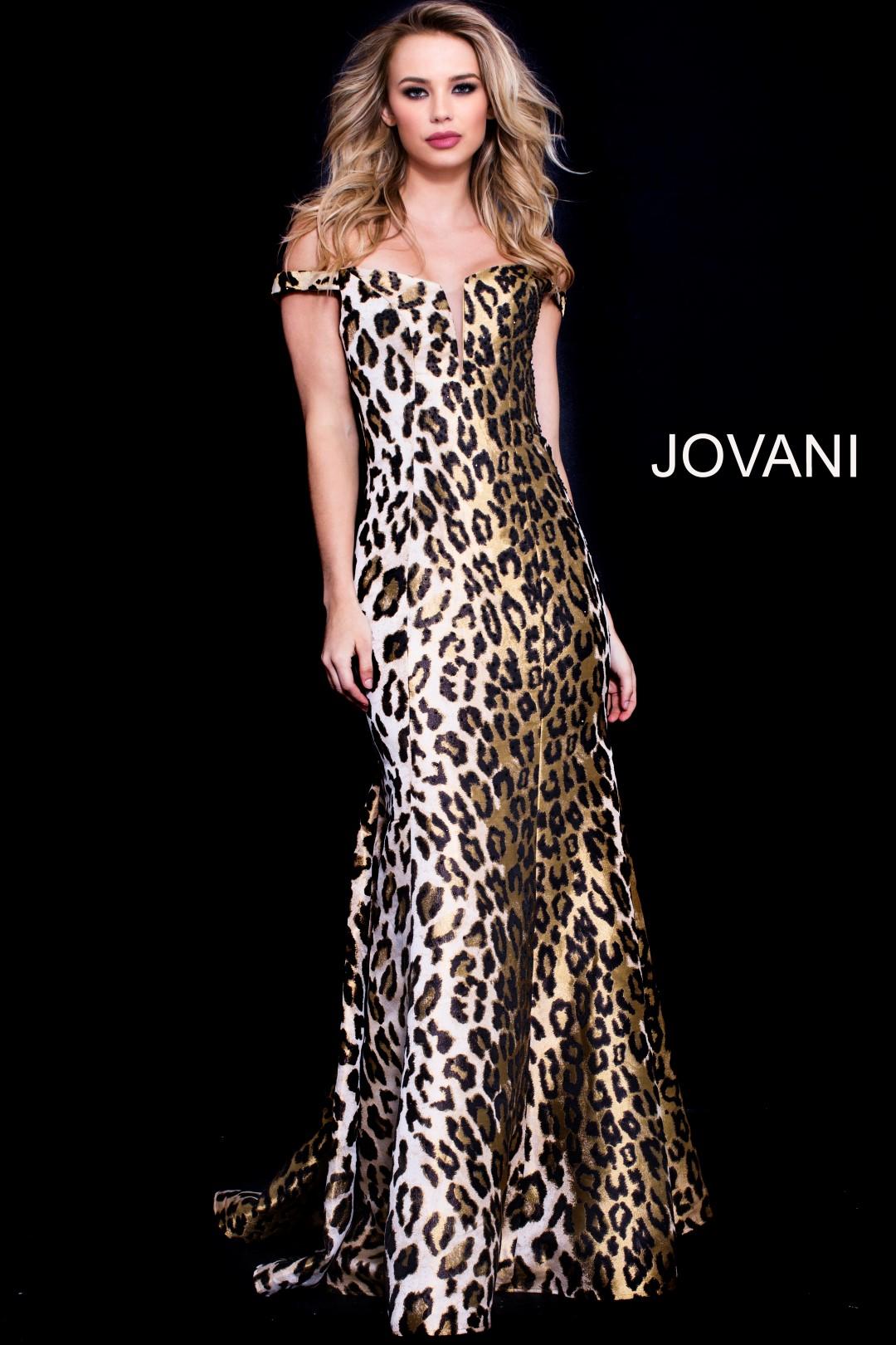 556c38781a JOVANI 57688 LEOPARD PRINT