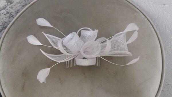 fascinator comb white