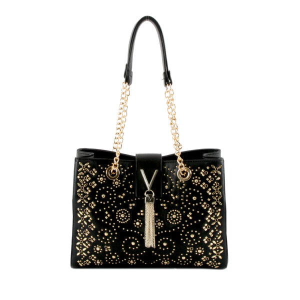valentino marilyn tote bag black