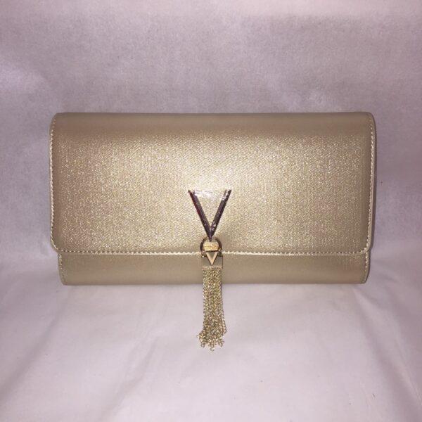 valentino marilyn clutch gold