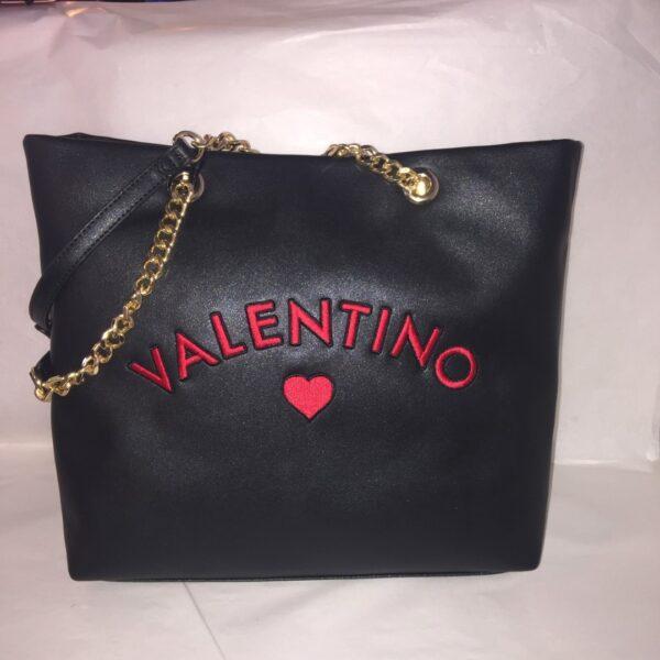 valentino alice tote bag black