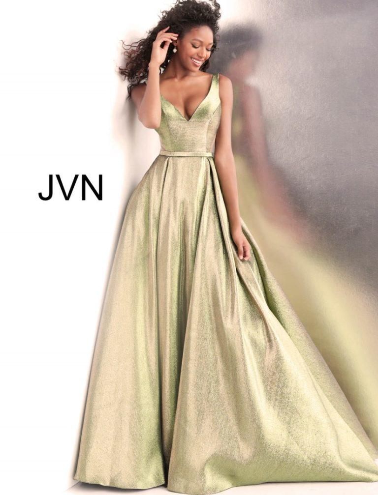 JOVANI JVN67647A GREEN GOLD