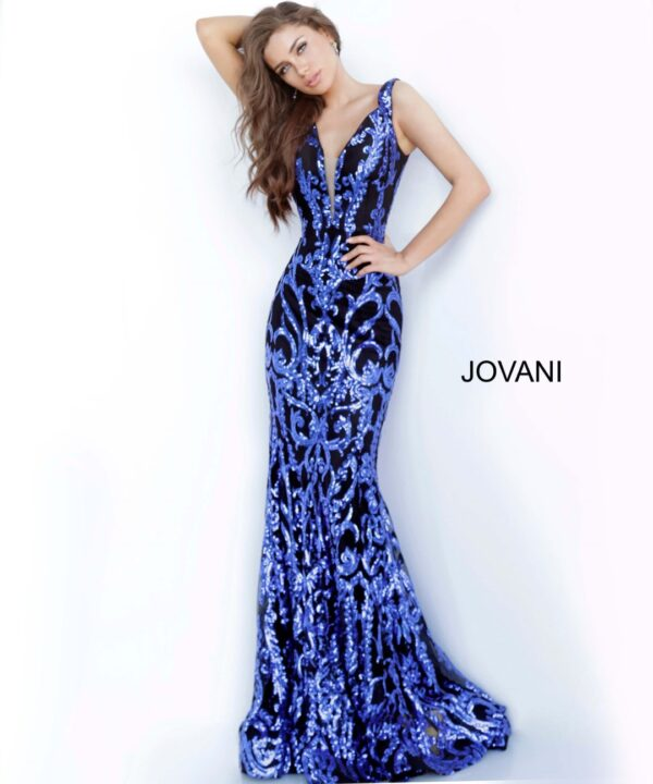 jovani 63349 black royal