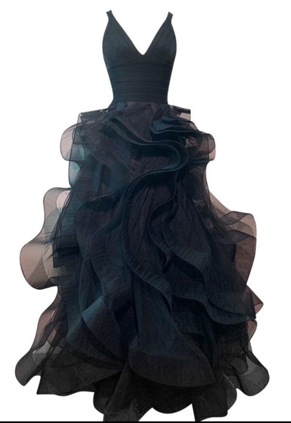 PROM MISS 2101 RUFFLE BLACK