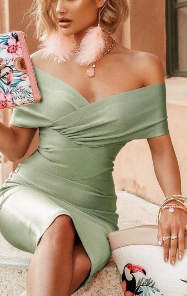 CHLOE BANDAGE DRESS SAGE GREEN