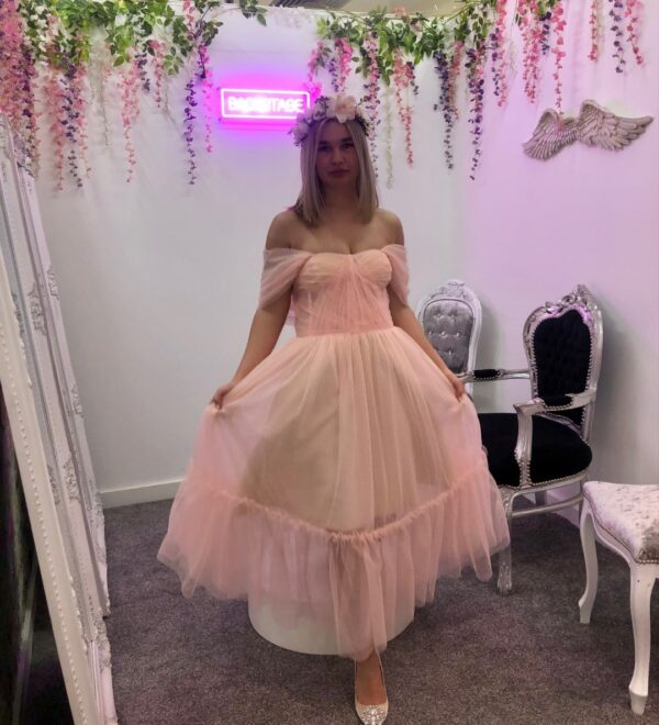 LACEY POLKA DOT TULLE DRESS PINK
