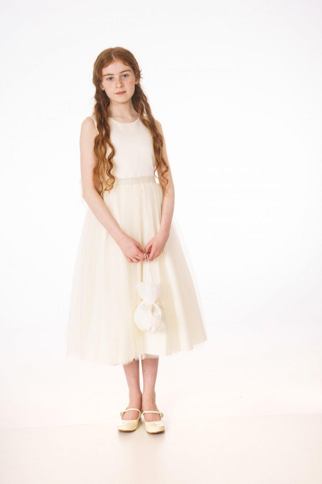 V361 FLOWER GIRL DRESS IVORY